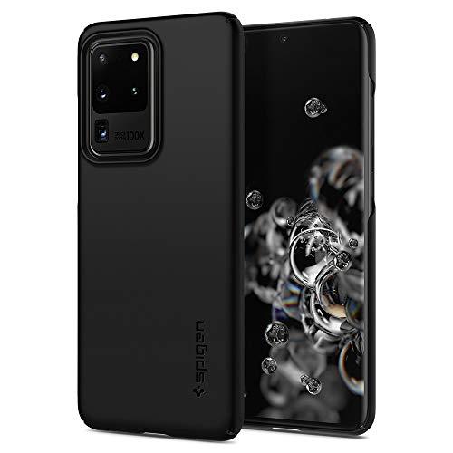 Spigen Thin Fit Hülle Kompatibel mit Samsung Galaxy S20 Ultra -Schwarz