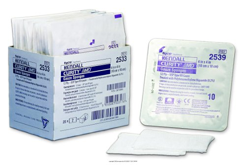 Curity AMD Antimicrobial Gauze Sponges, Curity AMD Spng Srtl 4x4 12 pl, (1 Pack, 10 Each) by COVIDIEN