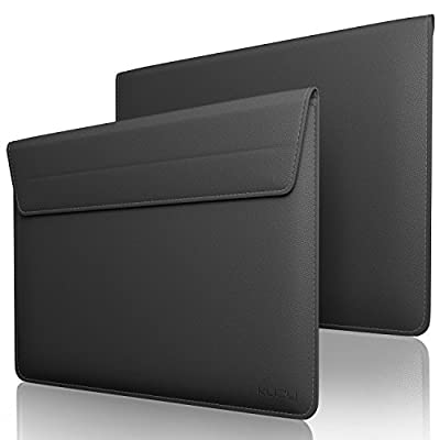 Kuzy 15 inch Laptop Sleeve Leather Case for 16-...
