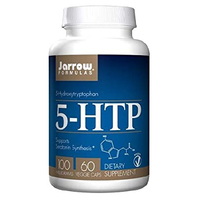 Jarrow Formulas 5 HTP 100 milligrams 60 capsules. Pack of 2 bottles.