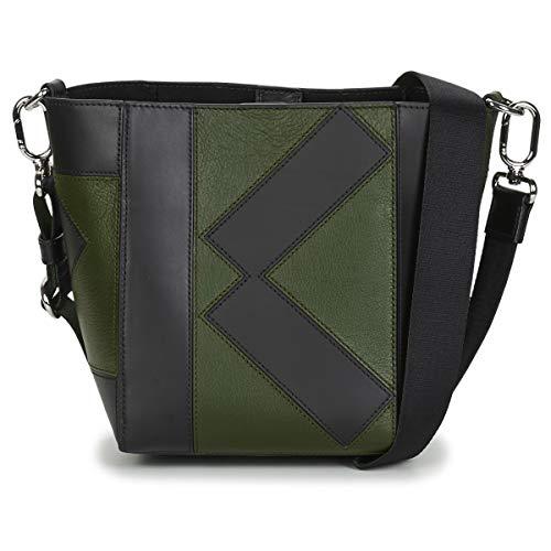 KENZO KUBE MINI TOTE Handtassen dames Zwart/Kaki - One size - Handtassen lang hengsel