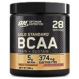 Optimum Nutrition Gold Standard BCAA, Acides Aminés en Poudre, Complément Alimentaire avec Vitamine C, Zinc, Magnésium et Électrolytes, Pêche Passion, 28 Portions, 266g, l'Emballage Peut Varier