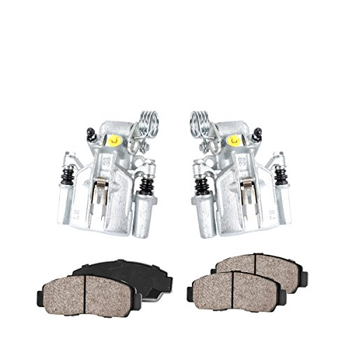 COEK00272 [2] REAR Premium Loaded OE Caliper Assembly Set + Quiet Low Dust Ceramic Brake Pads [ SN95 ]
