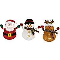 Materiale: qualità dell' acqua dolce e non tessuto e sono durevoli, che li rende una buona scelta per stoviglie di Natale. Resuable, accessorio perfetto per contribuire a creare un ambiente di festa. Adatto per la decorazione dell'ambiente, centri co...