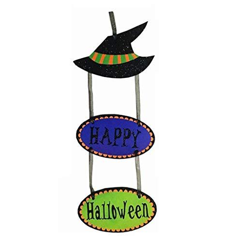 LQH Muestra Feliz Halloween Puerta Colgando Signos for la decoracin de Halloween (Size : A)
