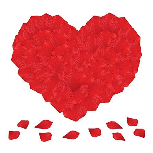 Doutop rosenblommor röda rosenblad 1 000 st. konstgjorda sidenblommor sidenblommor streudeko för bröllopsfest alla hjärtans dag släktingsansökan strö blommor bordsdekoration