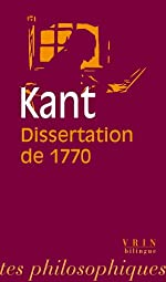 La Dissertation de 1770 d'Emmanuel Kant