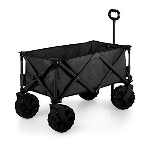 ONIVA - a Picnic Time Brand Collapsible Adventure Wagon with All-Terrain Wheels, Black/Gray