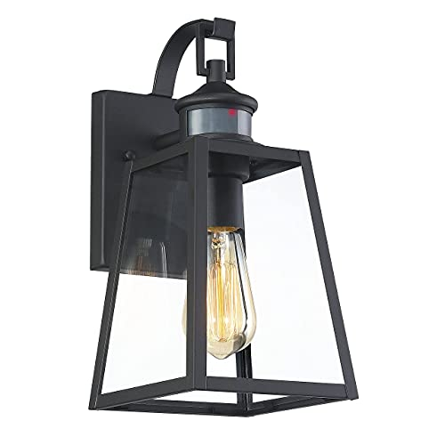 MOTINI Outdoor Wall Lantern with Motion Sensor 1-Light Dusk to Dawn Exterior Wall Sconce Light...