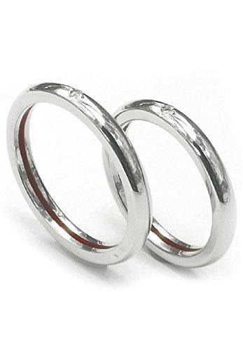 [ラバーズシーン]LOVERS SCENE 赤い糸 と ダイヤモンド シルバー 925 ペアリング (レディース7号とメンズ17号) 指輪 カップル