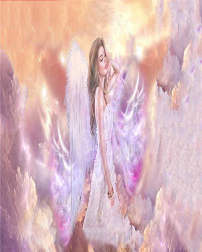 DIY Diamant Broderie Romantique 5D Plein Point De Croix Diamant Ensembles Décoratif Diamant Peinture Dessin Animé - Ange Belle Fille Mignon saint saint Baptême Cadeau