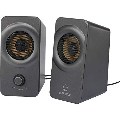 Renkforce RF-PCL-MESH2.0 2.0 PC-Lautsprecher Kabelgebunden 5 W Schwarz, Grau