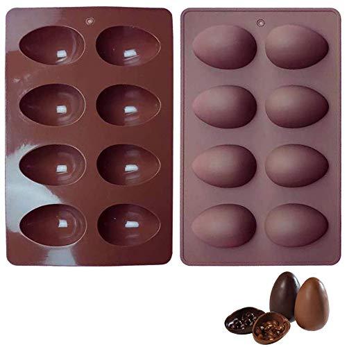 Stampo per Uova di Pasqua Stampo in Silicone per Torta al Cioccolato Stampo per Strumento di Cottura Fai-da-Te Uovo di Pasqua per burro di arachidi Cioccolato caramelle cupcake gelatina sapone