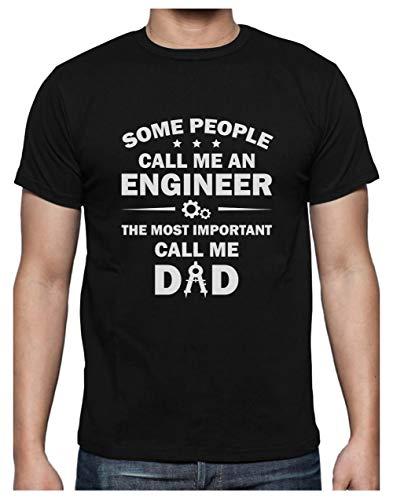 Green Turtle Camiseta para Hombre - Regalos Padres, Regalos Ingeniero - Some Call me Engineer Medium Negro