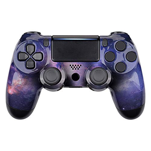 eXtremeRate Nebula Galaxy Pattern Replacement Faceplate Cover for PS4 Slim Pro Controller, Custom Front Housing Shell Case for PS4 Controller CUH-ZCT2 JDM-040 JDM-050 JDM-055 - Controller NOT Included