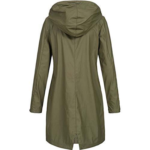DongYuYuXuXi Raincoat vrouwen ondoorlaatbaar waterdicht winddicht regenjas windjack plus-size 4XL groen