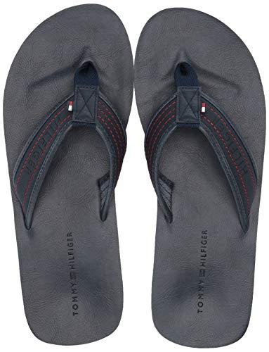 Tommy Hilfiger Men's Dill Flip-Flop, dark blue, 10 M US