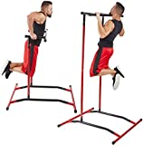 Tengma Pull Up Bar Free Standing Dip Station, Portable Power Tower Home Gym Equipment, Storage Bag,...