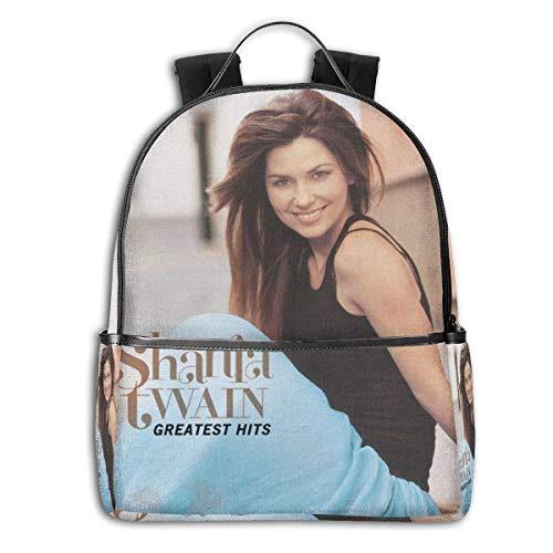 Mochila Mochila de Viaje Shania Twain Backpack 3D Full-Print Backpack Campus School Bag Casual Backpack Gym Travel Hiking Backpack