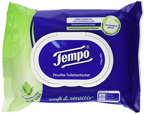 Tempo Feuchte Toilettentücher Sanft & Sensitiv Nachfüllpackung, 42er