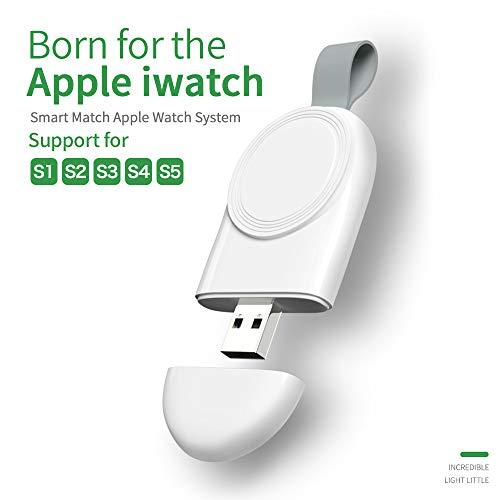 Cargador para Apple Watch, GTWCK portátil, USB magnético, Cargador inalámbrico para iWatch Pocket Power Bank Compatible con Apple Watch Series 5 4 3 2 1 44 mm 40 mm 42 mm 38 mm (Blanco)