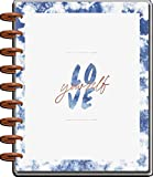 The Happy Planner Classic Sized 18 Month Planner - Indigo Theme - July 2021 - December 2022 - Dashboard Layout - Monthly & Weekly Disc Bound Pages - 7' x 9.25'