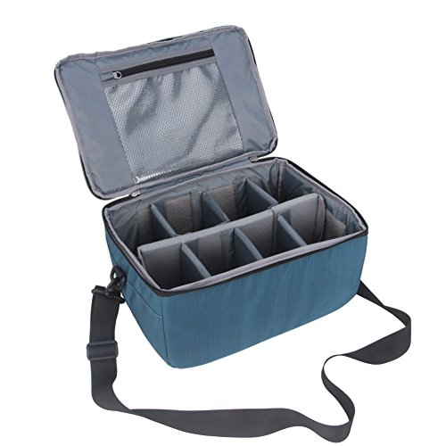 Koolertron DSLR Camera Insert Bag Purse Universal Liner Lens Pouch Partition Protective Cover Waterproof Sleeve for Cannon/Nikon/Sony (Blue)