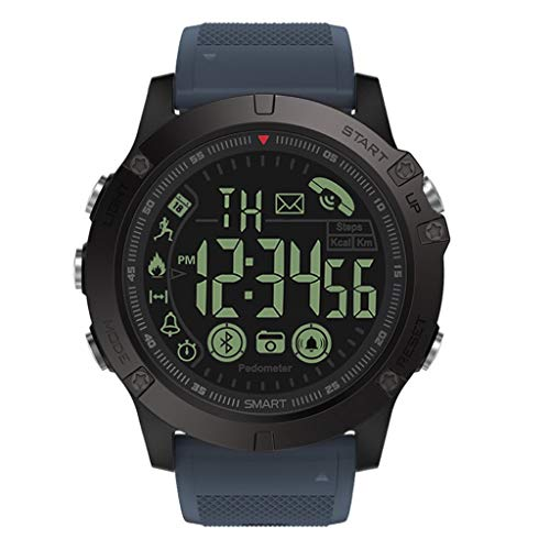 New Meidexian888 50M Water Resistance Smart Watch, Luminous Dial, 30-Month Standby, Remote Camera, Incoming Call Reminder (Blue)