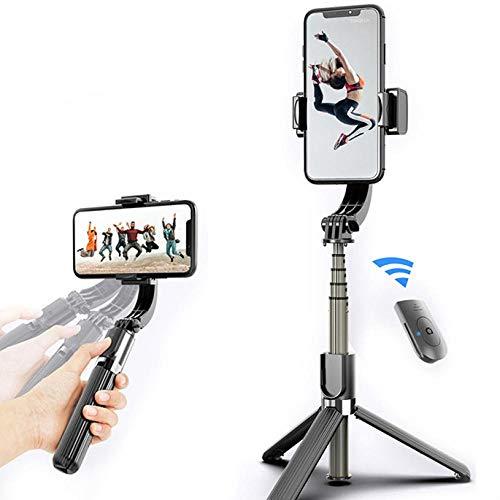 Selfie Stick, geschikt voor iPhone en Android Smartphones, Anti-Shake Opvouwbare Universele Pole Handheld statief Mobile telefoon houder Black