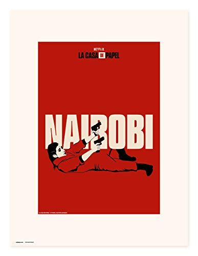 Erik Art Print | Impresión, La Casa de Papel Netflix, Nairobi, 30 x 40 cm