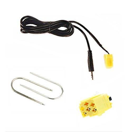 Sound-way 3,5 mm Jack Cable AUX IN Adapter Autoradio System kompatibel mit FIAT, Lancia, Alfa Romeo, Smart Fortwo