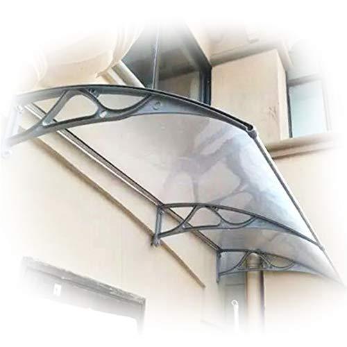 Tejadillo De Protección, Marquesina De Puerta Transparente Cubierta De Jardín Muda con Soporte De Aleación De Aluminio Protéjase del Sol, La Lluvia (Color : Clear, Size : 80x100cm)