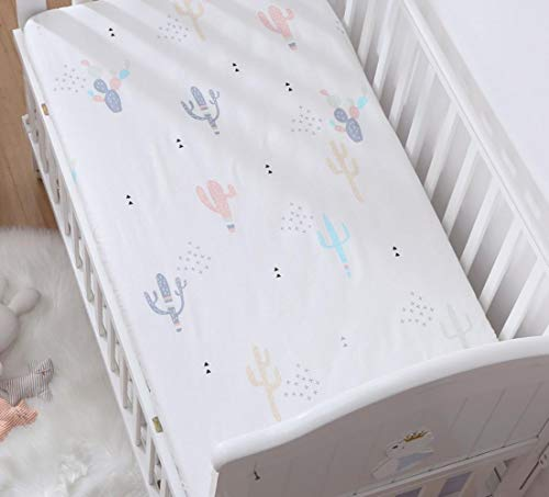 RSM Baby Mattress Cover Cotton Breathable Baby Bed Bed Sheet Newborn Sheets Infant Mattress Cover Protector,I,162 * 83*x5cm