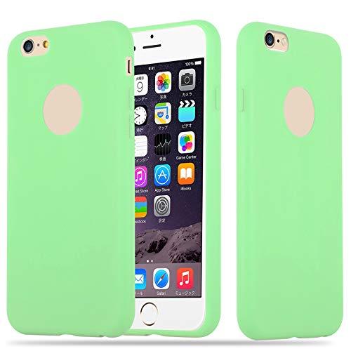 Cadorabo Funda para Apple iPhone 6 / iPhone 6S en Candy Verde Pastel - Cubierta Proteccíon de Silicona TPU Delgada e Flexible con Antichoque - Gel Case Cover Carcasa Ligera
