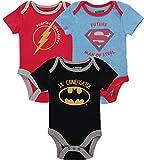 DC Comics Baby Boys' Infant Onesies Custome Bodysuit, Blue/Black/Red, 3-6 Months