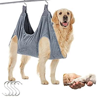 FOXBUS Dog Grooming Hammock Pet Grooming Sling ...