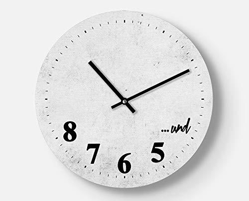 Kreative Wanduhr für Tänzer, Tanzkurs, Design Vintage Look, 30 cm, Leises Uhrwerk, Handgemacht, Ausgefallenes Geschenk, Coole Wanddekoration