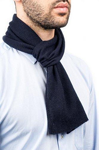DALLE PIANE CASHMERE - Mini Sciarpa 100% cashmere - Uomo/Donna, Colore: Blu, Taglia unica