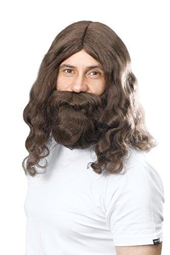 Bristol novità BW581hippy Gesù parrucca e barba, colore: marrone, taglia unica