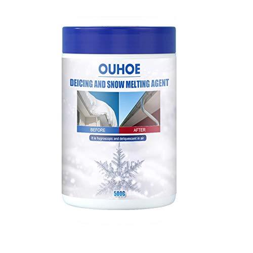 La sal de derretimiento y descongelación de hielo, 500 g de nieve derretida de sal y descongelante se utiliza en la superficie de la carretera para mantener la carretera sin obstáculos.