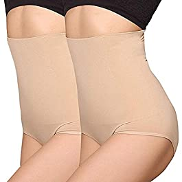 ANGOOL Hi-Waist Tummy Control Knickers Seamless Waist Cincher Shapewear for Women