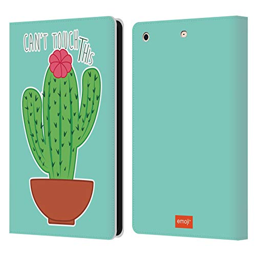 Head Case Designs Oficial Emoji No se Puede Tocar Esto Cactus Y Piña Carcasa de Cuero Tipo Libro Compatible con Apple iPad Mini 1 / Mini 2 / Mini 3