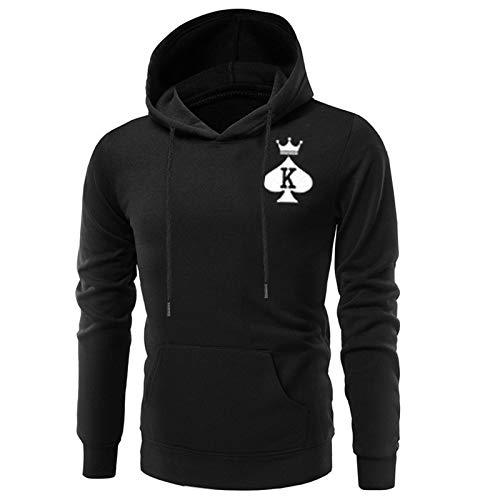 Paar pullover spring mode paar sweatshirt extra groot koningin spel hoodie casual lange mouwen met capuchon sport top
