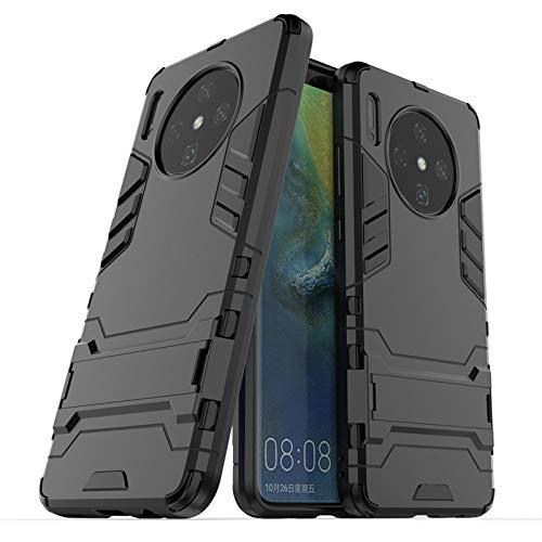 MarloncJg for Huawei Mate-30 telefoon doos, TPU + PC stootbescherming wapenkast met houder voor Huawei Mate-30' (kleur: zwart)