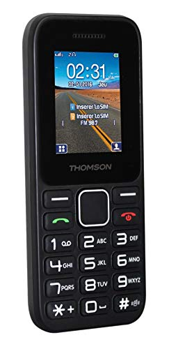 Thomson TLINK11 4,5 cm (1,77 Zoll) - Handys (Dual SIM, MiniSIM, Kalender, Lithium-Ionen (Li-Ion), GSM, Micro)