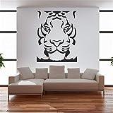 autocollant mural Motif tête de tigre pas cher le roi de la jungle Stickers