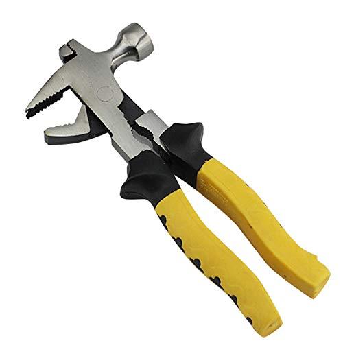 Multifunción martillo extractor de uñas alicates llave abrazaderas pinzas extractor de uñas carpintería Fitter para hogar al aire libre DIY obras