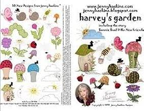 Jenny Haskins Harvey's Garden Embroidery Kit with CD-ROM