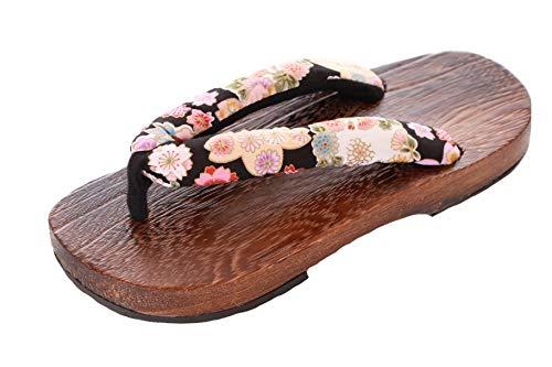 Kawaii-Story K-G-50-6 Holz Japan Geta Damen Sandale Tabi Kimono Geisha Kendo Samurai, Gr. 38-40 (Asia 41), Mehrfarbig
