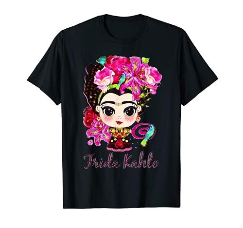 Love Kahlos Design Arts Fridas Trajes La Pintoras Mexicanos Camiseta